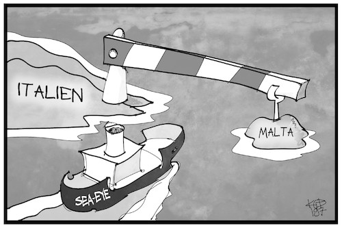 Cartoon: Seenotrettung (medium) by Kostas Koufogiorgos tagged karikatur,koufogiorgos,illustration,cartoon,seenotrettung,sea,eye,alan,kurdi,malta,italien,mittelmeer,asylpolitik,flüchtlinge,karikatur,koufogiorgos,illustration,cartoon,seenotrettung,sea,eye,alan,kurdi,malta,italien,mittelmeer,asylpolitik,flüchtlinge