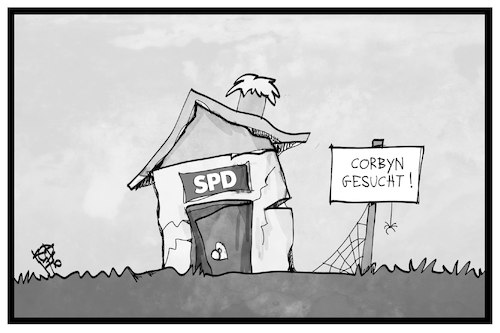 Cartoon: SPD-Retter (medium) by Kostas Koufogiorgos tagged karikatur,koufogiorgos,illustration,cartoon,spd,corbyn,partei,retter,umfrage,ruine,baracke,labour,karikatur,koufogiorgos,illustration,cartoon,spd,corbyn,partei,retter,umfrage,ruine,baracke,labour