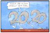 Cartoon: 2020 (small) by Kostas Koufogiorgos tagged karikatur,koufogiorgos,illustration,cartoon,2020,gleich,ähnlich,jahreswechsel,silvester