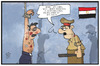 Cartoon: Ägypten (small) by Kostas Koufogiorgos tagged karikatur,koufogiorgos,illustration,cartoon,al,sisi,aegypten,praesident,folter,gefängnis,wärter,polizei,militaer,gabriel,menschnrecht,menschenwuerde