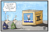 Cartoon: Asylpaket II (small) by Kostas Koufogiorgos tagged karikatur,koufogiorgos,illustration,cartoon,asylpaket,paket,schachtel,schockbild,fluechtlingspolitik,michel,schock,schreck,ertrinken