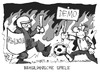 Cartoon: Brasilianische Spiele (small) by Kostas Koufogiorgos tagged brasilien,fussball,demonstration,polizei,protest,wm,weltmeisterschaft,karikatur,koufogiorgos