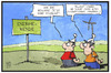 Cartoon: Energiewende (small) by Kostas Koufogiorgos tagged karikatur,koufogiorgos,illustration,cartoon,energiewende,windkraft,grüne,energie,iran,deal,atomkraft,akw,umwelt,naturschutz