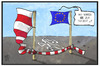 Cartoon: Ermittlung gegen Polen (small) by Kostas Koufogiorgos tagged karikatur,koufogiorgos,illustration,cartoon,polen,eu,europa,kommission,verfahren,ermittlung,alibi,mord,pressefreiheit,tatort,fahne,flagge,flatterband,absperrung,mediengesetz