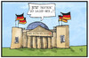 Cartoon: Fraktionszwang (small) by Kostas Koufogiorgos tagged karikatur,koufogiorgos,illustration,cartoon,fraktion,cdu,partei,fraktionszwang,kauder,reichstag,volker,volk,demokratie,politik,bundestag