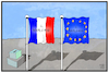 Cartoon: Frankreich-Wahl (small) by Kostas Koufogiorgos tagged karikatur,koufogiorgos,illustration,cartoon,frankreich,fahne,flagge,wahl,europa,wahlgang,demokratie,zukunft,prognose