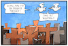 Cartoon: Friedhof oder  Bayern (small) by Kostas Koufogiorgos tagged karikatur,koufogiorgos,illustration,cartoon,bayern,kreuz,christentum,friedhof,vögel,vogelperspektive,religion,symbol