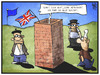 Cartoon: Großbritannien isoliert sich (small) by Kostas Koufogiorgos tagged karikatur,koufogiorgos,illustration,cartoon,grossbritannien,eu,europa,michel,deutscher,franzose,italiener,isolation,aussenseiter,politik