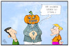 Cartoon: Halloween jamaikanisch (small) by Kostas Koufogiorgos tagged karikatur,koufogiorgos,cartoon,illustration,jamaika,halloween,kuerbis,verkleidung,grusel,fdp,gruene,union,koalition,sondierung,politik,partei