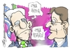 Cartoon: Monti and Samaras (small) by Kostas Koufogiorgos tagged greece,italy,piigs,eurocrisis,samaras,monti,austeriti,plan,litotita,italia,ellada