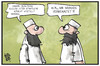 Cartoon: Moscheen-Aufsicht (small) by Kostas Koufogiorgos tagged karikatur,koufogiorgos,illustration,cartoon,moschee,imam,islam,religion,beamter,aufsicht,staat,kontrolle,überwachung,integration