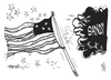 Cartoon: Sandy (small) by Kostas Koufogiorgos tagged sandy,flagge,stars,stripes,usa,sturm,hurrikan,klima,wetter,karikatur,kostas,koufogiorgos