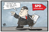 Cartoon: SPD-Parteitag (small) by Kostas Koufogiorgos tagged karikatur,koufogiorgos,illustration,cartoon,spd,parteitag,gabriel,merkel,vorsitzender,partei,rede,pause,arbeit
