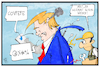 Cartoon: Trump klemmt (small) by Kostas Koufogiorgos tagged karikatur,koufogiorgos,illustration,cartoon,covfefe,trump,mechaniker,usa,präsident,reparatur,twitter