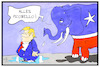 Cartoon: Trumps Reinwaschung (small) by Kostas Koufogiorgos tagged karikatur,koufogiorgos,illustration,cartoon,reinwaschung,impeachment,trump,usa,republikaner,elefant