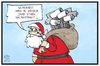 Cartoon: Überwachung (small) by Kostas Koufogiorgos tagged karikatur,koufogiorgos,illustration,cartoon,sicherheit,weihnachtsmann,kamera,überwachung,wunsch,geschenk