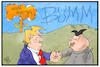 Cartoon: USA-Nordkorea-Gipfel (small) by Kostas Koufogiorgos tagged karikatur,koufogiorgos,illustration,cartoon,usa,nordkorea,pakistan,indien,atombombe,treffen,gipfel,hanoi,vietnam