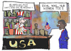 Cartoon: USA (small) by Kostas Koufogiorgos tagged usa,bankrott,tea,party,obama,uncle,sam,wirtschaft,karikatur,koufogiorgos