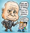 Cartoon: McCain policy towards gays (small) by illustrator tagged mccain president candidate kandidaat gay marriage schwul heirat legal jokes grandpa cartoon satire welleman cartoonist politik politics homophobe homofobe