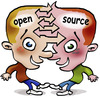 Cartoon: Open Source (small) by illustrator tagged open,source,mind,telepathic,thoughts,reading,sharing,connection,connect,synergy,cooperation,voyant,opensource,psychic,soul,search,insight,insightful,linux