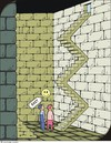 Cartoon: Ausgang 2 - Exit 2 (small) by JotKa tagged treppe,ausgang,mauern,keller,phantasie,gemäuer,forscher,entdeckungen,rätsel,staircase,exit,walls,cellar,fantasy,of,researcher,discoveries,puzzles
