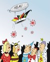 Cartoon: Corona und der Karneval (small) by JotKa tagged corona,virus,krankheiten,infektion,pandemie,epidemie,großveranstalrungen,karneval,messen,disco,übertragung,ansteckung,ärzte,patienten,gesundheit