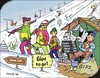 Cartoon: Wintersport - Winter sports (small) by JotKa tagged wintersport,skifahren,schlittenfahren,snowboard,langlauf,unfall,lift,seilbahn,sessellift,bergwacht,erste,hilfe,tourismus,schnee,berge,eis,gips,gipsverband,leichtsinn,krankenhaus,urlaub,sledding,winter,sports,skiing,accident,ropeway,chair,mountain,rescue,f