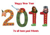 Cartoon: Happy New Year (small) by azamponi tagged new,year,wishes