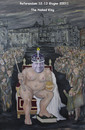 Cartoon: The Naked King (small) by azamponi tagged berlusconi,nuclear,energy,water