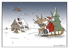 Cartoon: xmas service (small) by Micha Strahl tagged micha,strahl,weihnachten,weihnachtsmann,xmas,weihnachtsgeschenke,drohne,stclaus,bescherung