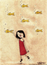 Cartoon: A Dream Scene (small) by CIGDEM DEMIR tagged fish dream