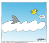 Cartoon: JAWS (small) by CIGDEM DEMIR tagged cigdem demir bird jaws