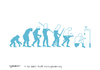 Cartoon: We depleting water (small) by CIGDEM DEMIR tagged water human evolution