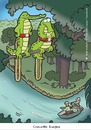 Cartoon: crocodile bungee (small) by Birgit Dodenhoff Cartoons tagged nature,crocodile,hunter