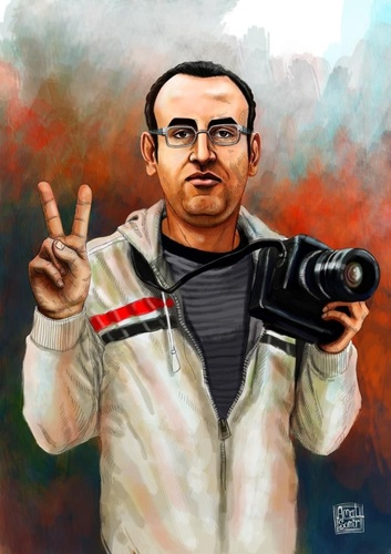 Cartoon: El Hussien (medium) by Amal Samir tagged egypt,revolution,young,man