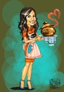 Cartoon: Darine (small) by Amal Samir tagged cartoon,cook,digital,painting
