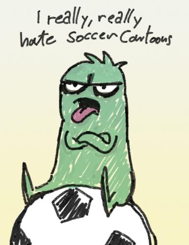 Cartoon: soccer sucks (medium) by dfreleng tagged hate,soccer,football