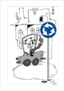 Cartoon: Traffic sign (small) by paraistvan tagged traffic,sign,to,circle,drunk,happy