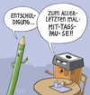 Cartoon: ... (small) by Tobias Wieland tagged spitzer,stift,mittag,pause,mittagspause,arbeit,job