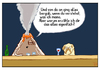 Cartoon: ... (small) by Tobias Wieland tagged vulkan volcano kneipe mops