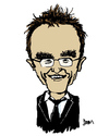 Cartoon: Danny Boyle (small) by Dom Richards tagged caricature,olympics,trainspotting,danny,boyle