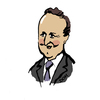Cartoon: Dave Cameron (small) by Dom Richards tagged prime,minister,politician,caricature,tory,conservative,leader,uk