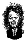 Cartoon: Russell Brand (small) by Dom Richards tagged russell,brand,caricature,comedian