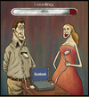 Cartoon: Modern love (small) by gunberk tagged love,modern,online,lovers,internet,facebook,pc