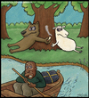 Cartoon: wolf and lame grass (small) by gunberk tagged wolf,lame,grass