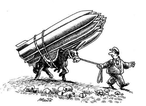 Cartoon: missiles and poverty (medium) by Medi Belortaja tagged military,poverty,missiles,theft,weapon,traffic