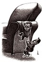 Cartoon: struggle for power (small) by Medi Belortaja tagged power,chair,heads,politicians,elections