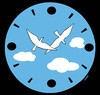 Cartoon: birds clock (small) by Medi Belortaja tagged birds,clock,heavens,sky,hours,minutes,flying
