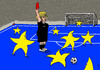 Cartoon: EU stars players (small) by Medi Belortaja tagged eu,europe,stars,players,soccer,football,merkel
