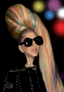 Cartoon: Lady Gaga (small) by Medi Belortaja tagged lady,gaga